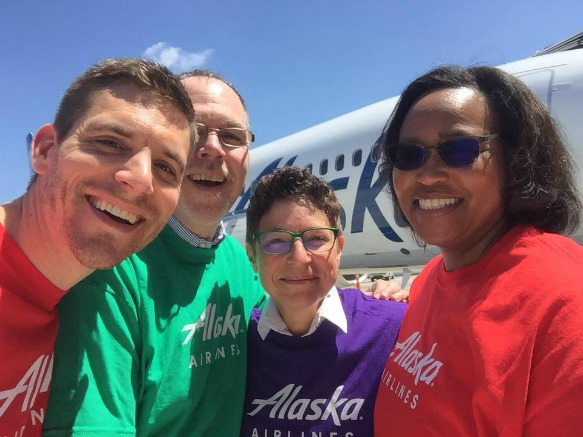Alaska Airlines Fly with Pride 2017